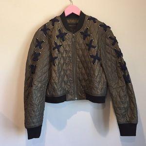 BCBG hunter green jacket
